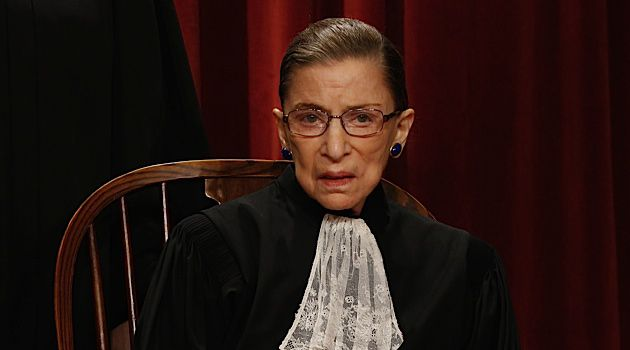 A Rarity In More Ways Than One: Ruth Bader Ginsburg (pictured here at the Supreme Court building in Washington, DC in October 2010) is not only the first Jewish woman to serve as a Supreme Court Justice, but also one of the few survivors of pancreatic cancer.