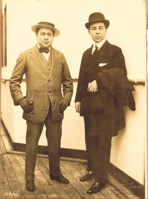 Tyrannical: Feuding brothers J.J. (left) and Lee Shubert bullied their way to a theater empire in New York and around the U.S.