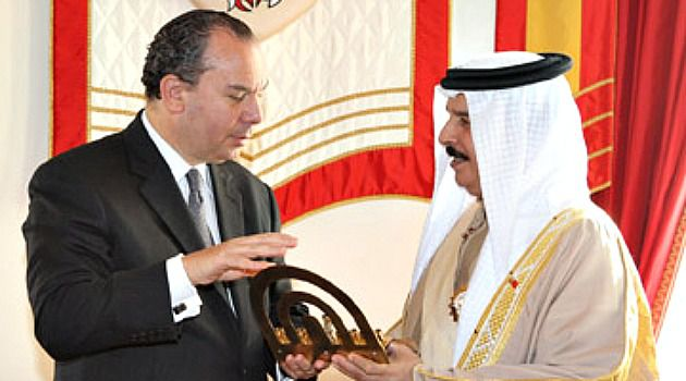 Crackdown King: Rabbi Marc Schneier meets Bahrain?s King Hamad bin Isa Al Khalifa. The Gulf State?s ruler has been criticized for cracking down on opponents but Schneier praises him as a model of interfaith dialogue.