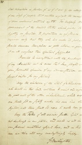 Not the Original: A copy of Washington?s letter to the Jews of Newport.