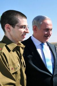 Done Deal: Freed soldier Gilad Shalit meets Prime Minister Benjamin Netanyahu and other officials after his release.