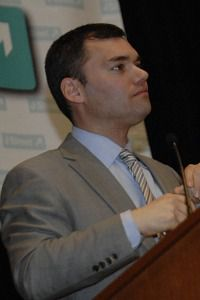 Welcomed Warmly: Peter Beinart addresses the third annual J Street conference.