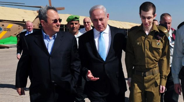 United Nation: Prime Minister Benjamin Netanyahu walks with Gilad Shalit after the Israeli soldier?s release from Hamas captivity.