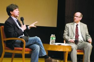 Talk of the Nation: Documentary filmmaker Ken Burns talks with Jonathan Karp at an event earlier this year at the Center for Jewish History.