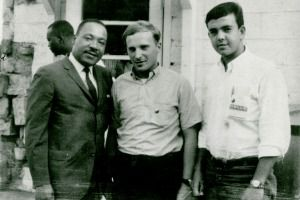 Role Model: Peter Geffen, right, said Martin Luther King greatly influenced his life.