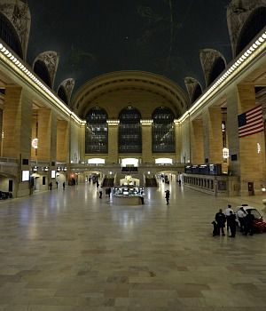 No Rush Hour: Grand Central Terminal was nearly empty after train and subway service was cancelled ahead of Sandy.