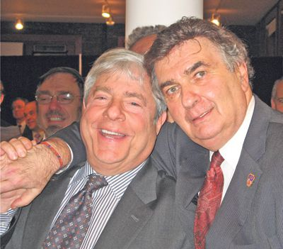 The Good Times: Marty Markowitz (left) celebrates with honoree Rabbi Joseph Potasnik.
