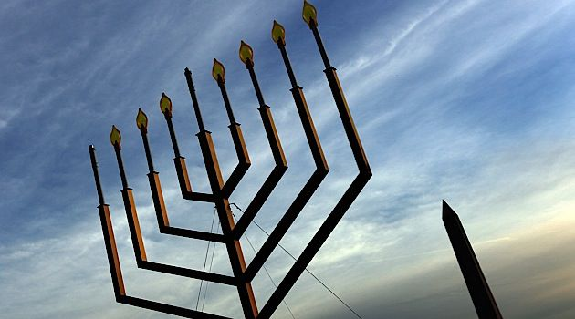 Light Unto the Mall: A large-scale menorah sits on Washington?s National Mall.
