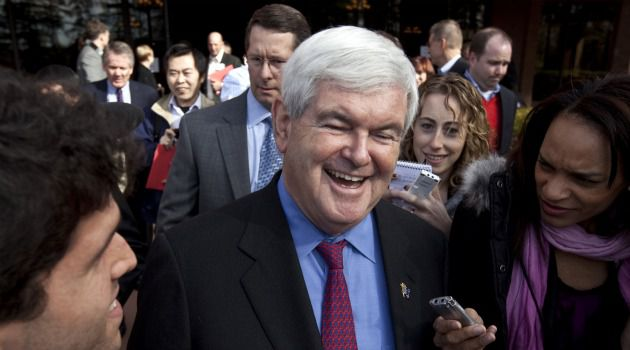 Newt Makes Push: GOP frontrunner Newt Gingrich, shown here campaigning in South Carolina, continued his concerted effort to court Jewish voters.