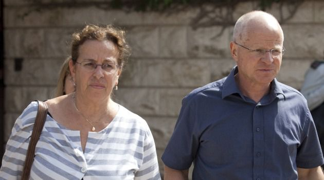 Anxious Wait: Gilad Shalit?s parents, Noam and Aviva, return home after meeting with officials. They are awaiting their son?s release from captivity.
