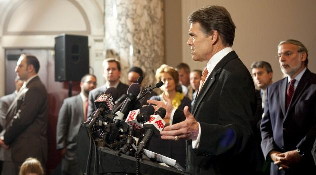 No Leadership: Republican presidential candidate Rick Perry attacks President Obama for failing to support Israel strongly enough.
