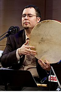 Banging a Drum for Piyyutim: Ethnomusicologist and bandleader, Samuel R. Thomas plays in the WNYC Greene Space.