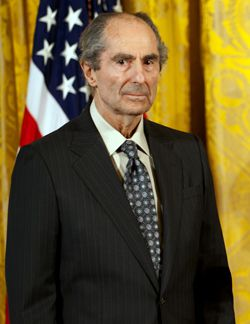 Philip Roth stands during a ceremony at the White House in 2011, where he recieved the National Humanities Medal.