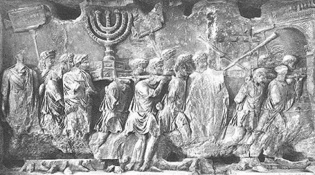When in Rome: A bas-relief on the Arch of Titus depicts the Roman conquest of Jerusalem.