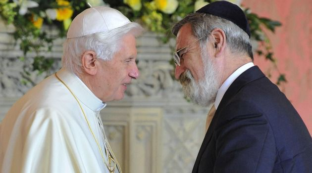 Pontificators In Chief: Pope Benedict XVI with chief rabbi Jonathan Sacks