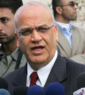 Negotiator: For decades, Erekat has led the Palestinian team in talks with Israelis.