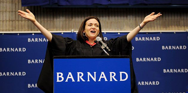 Generation of Change: Sheryl Sandberg, chief operating officer of Facebook, exhorted the graduates of Barnard College to do their part to increase the number of women in top executive jobs.