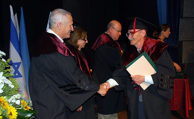 Late Bloomer: Eliezer Schwartz, 81, receives his doctorate in July from the University of Haifa.