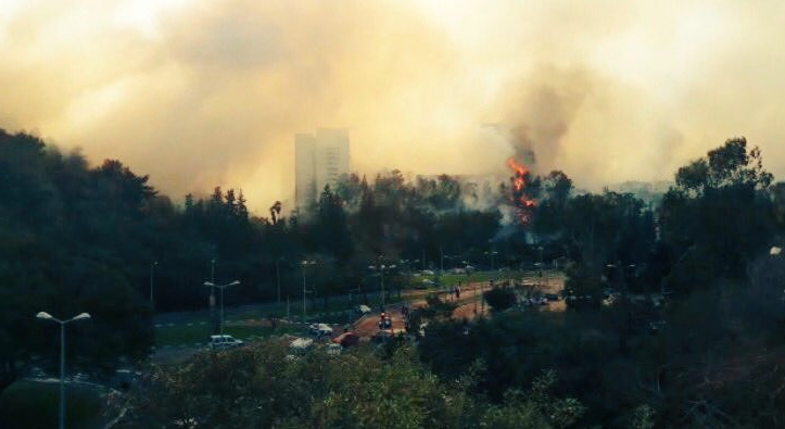 Fires are set throughout Israel