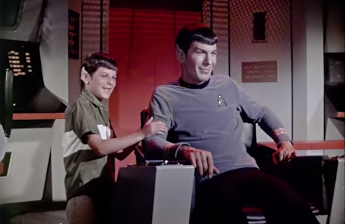 Adam Nimoy and his father, Leonard, dressed as Spock.