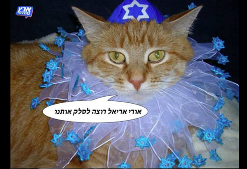 "A meme from the Facebook of Israeli satirical show, ""Eretz Nehederet""."