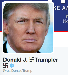 """The Nazi Detector Chrome application marks and changes Donald Trump's last name to """"Trumpler"""""""
