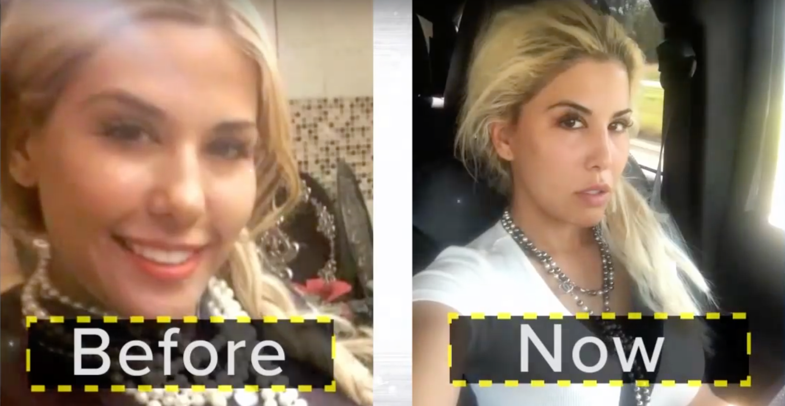 Tiffany Taylor, before and after.