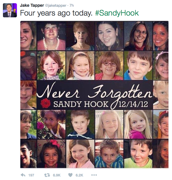 cnn reporter jake tapper pays tribute to sandy hook victims on 4th