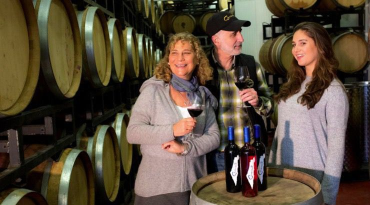 Wines of the Times: [from left] Jodie Morgan, Jeff Morgan and Zoe Morgan at the Covenant Israel winery.