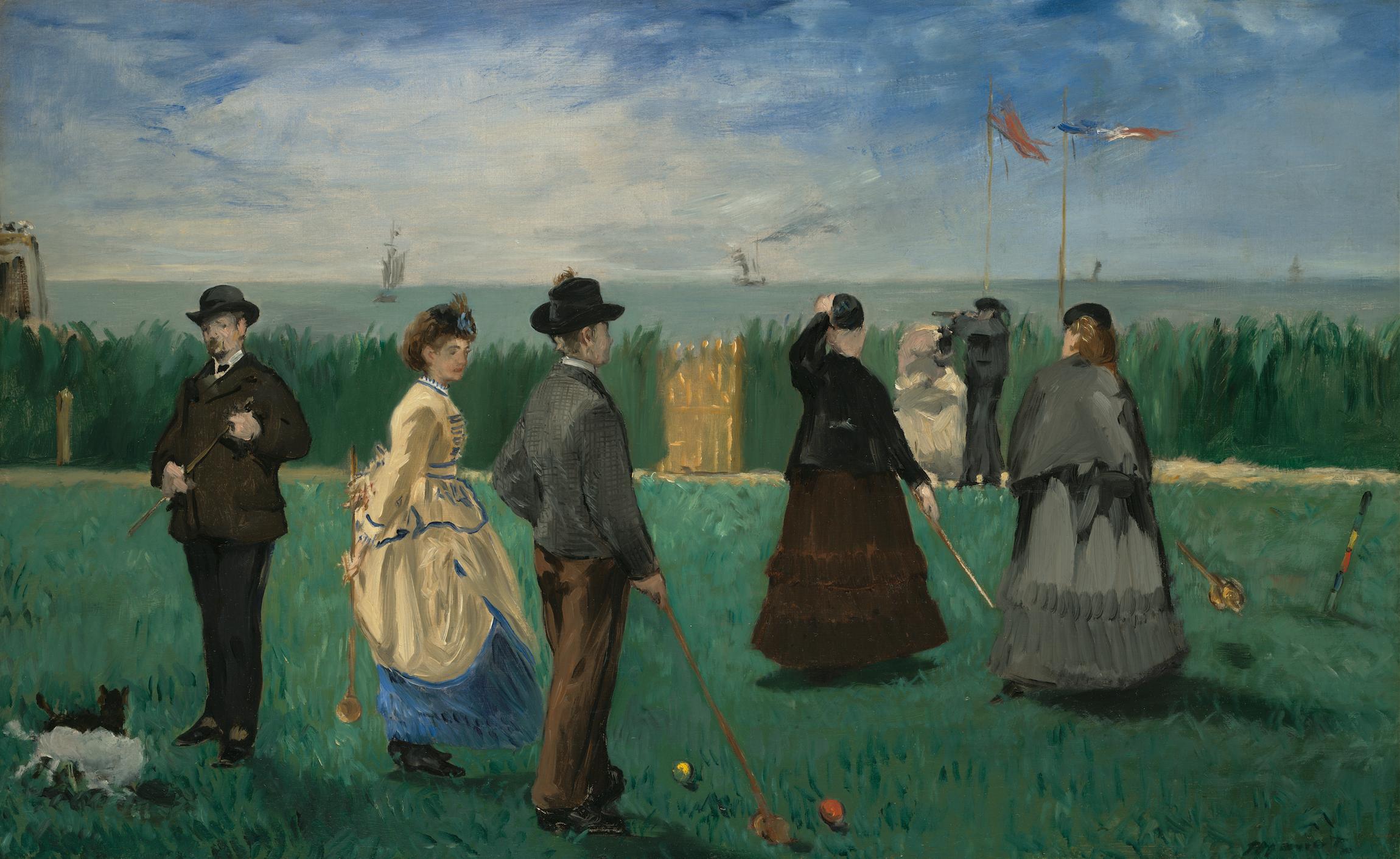 """Édouard Manet's """"Croquet Players."""""""