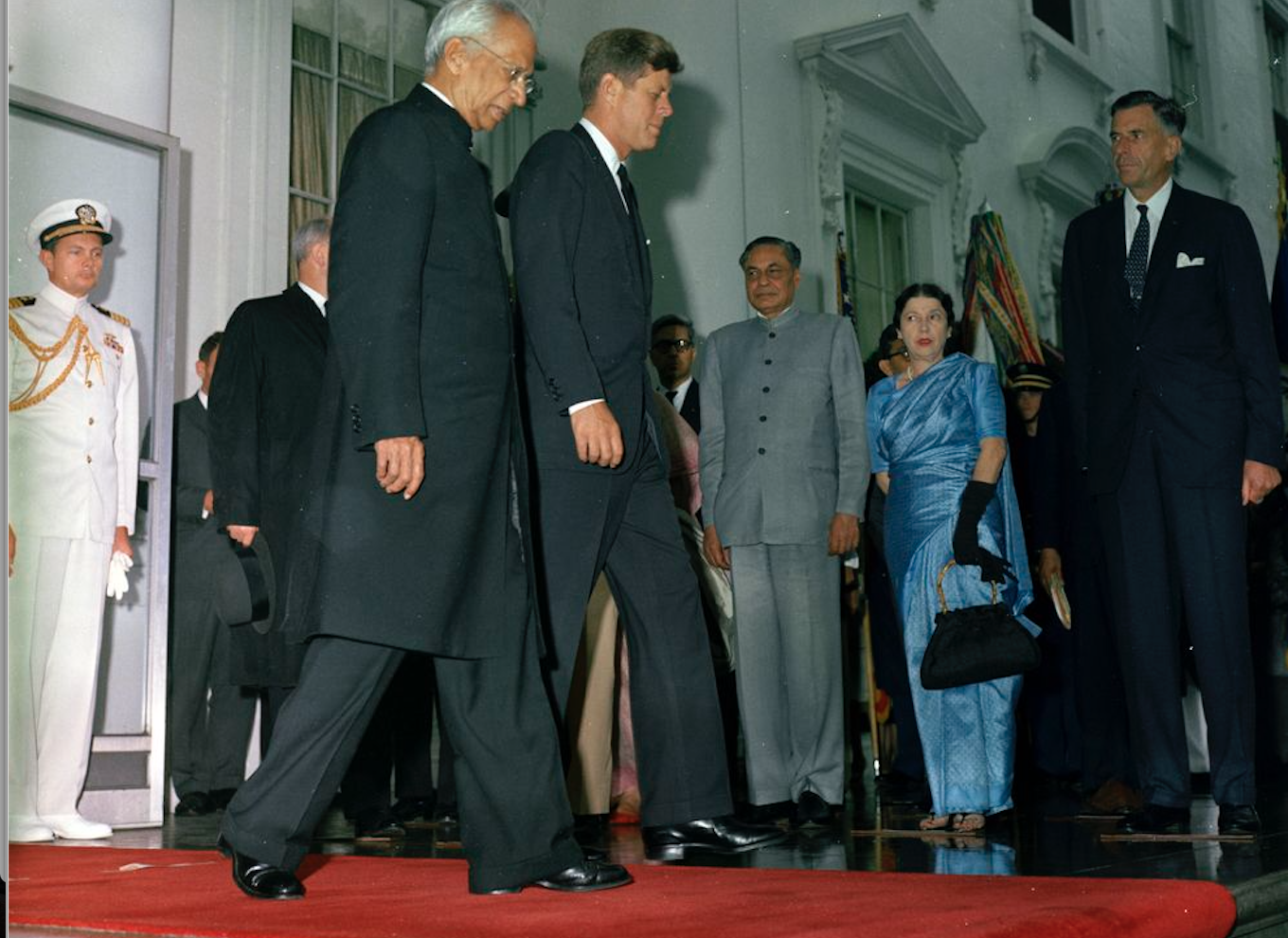 Shobha Nehru and John F. Kennedy