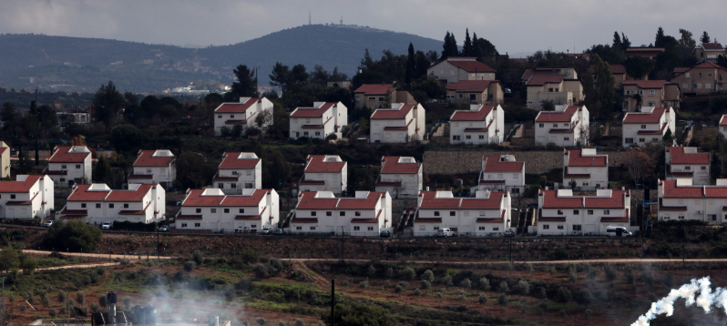 The West Bank settlement of Halamish