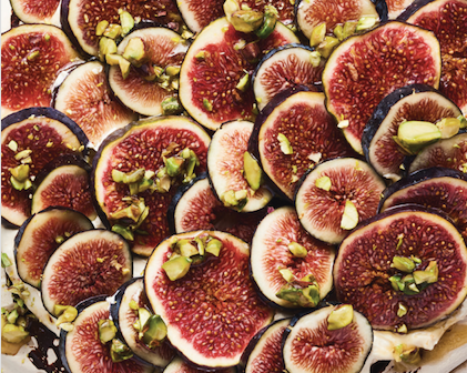 Fresh Figs: One of the seven species of Israel plays a starring role in this cinnamon pavlova with praline cream.