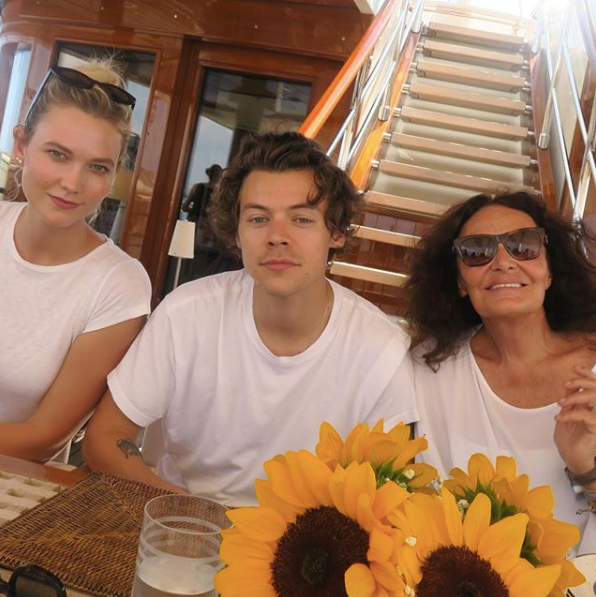 karlie kloss and harry styles are in sicily together the forward