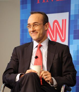 An Affable Man: Dan Senor speaking at Time Warner?s Political Conference in 2008.