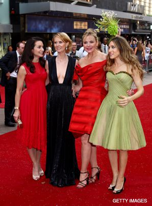 DIVAS: Sarah Jessica Parker (right) and her ?Sex in the City? co-stars.