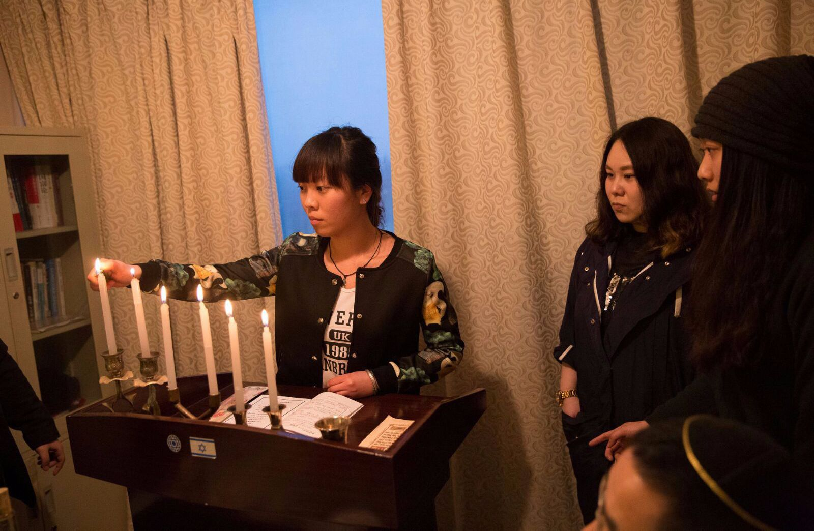 All in the family: Chinese Jews gather for Hanukkah.