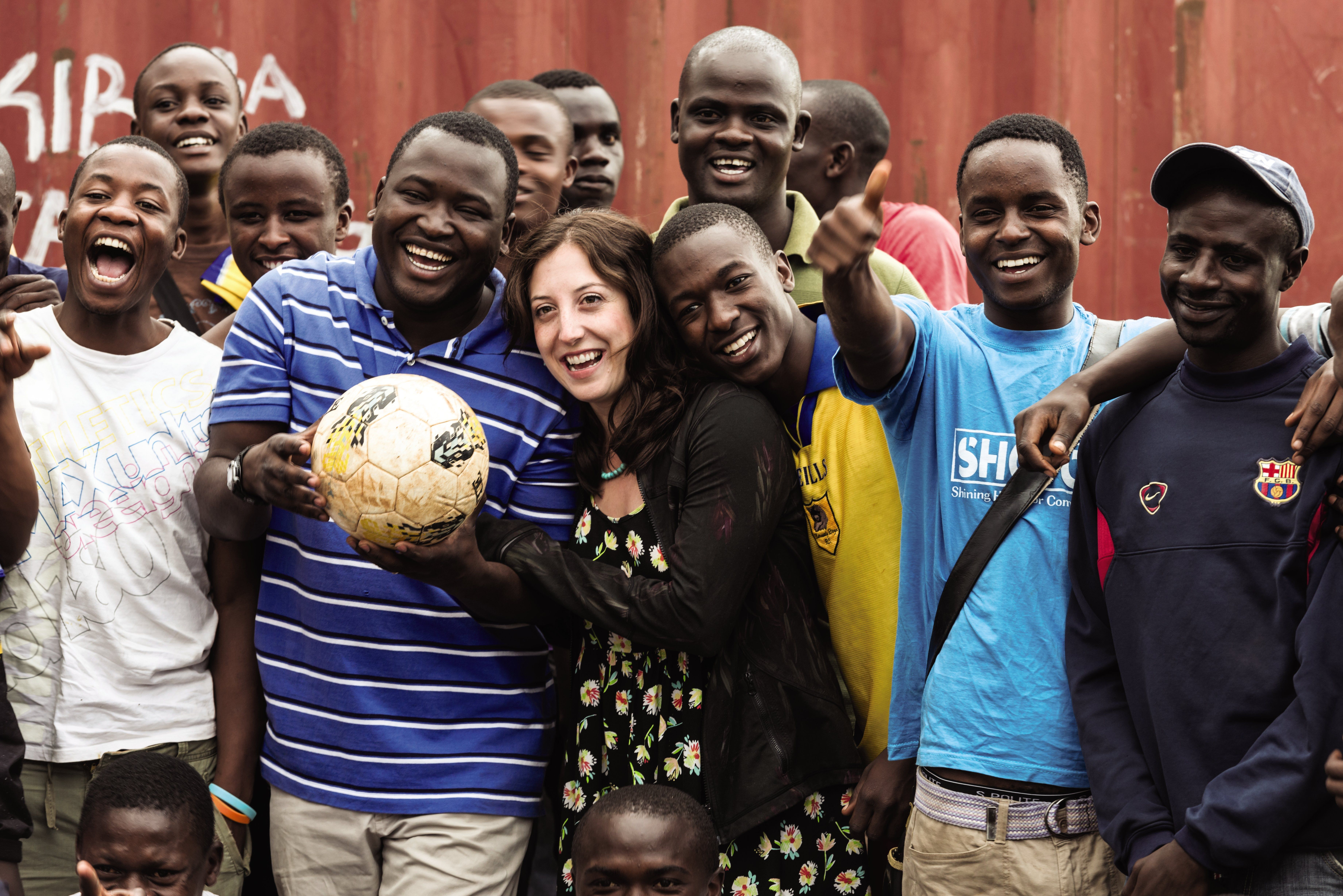 It Takes a Soccer Ball: SHOFCO founders Kennedy Odede and Jessica Posner.
