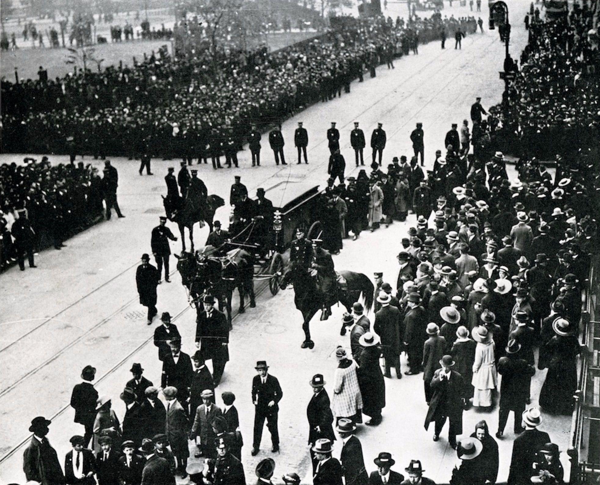 Sholem Aleichem's funeral