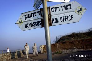 NEW DIRECTIONS?: The distance from Damascus to Jerusalem has never been great, as a signpost on the Israeli-Syrian border illustrates, but with Israel and Syria publicly acknowledging that they have been holding unofficial peace talks, the diplomatic gulf between the two may be shrinking.