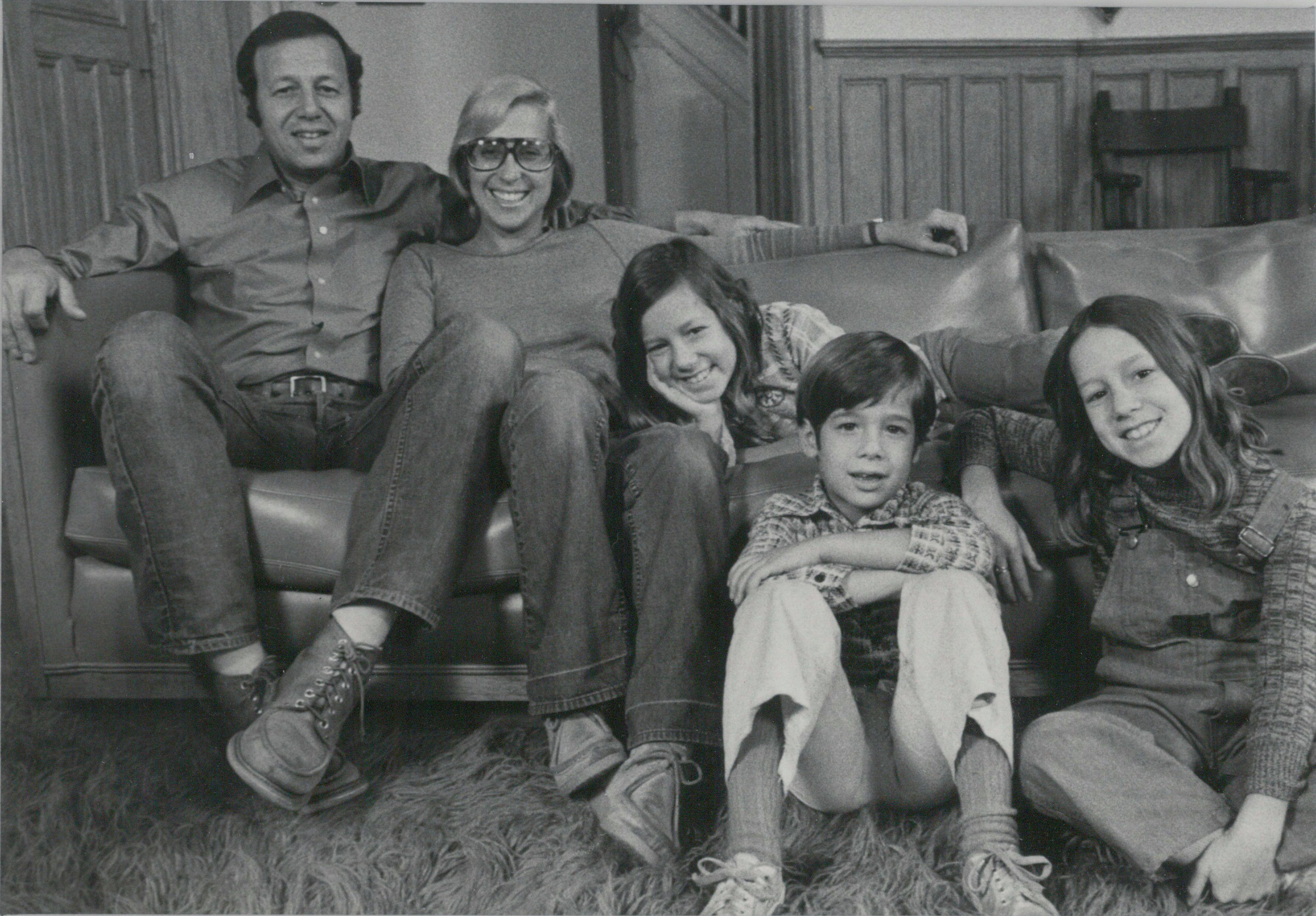 The Pogrebin family in 1970