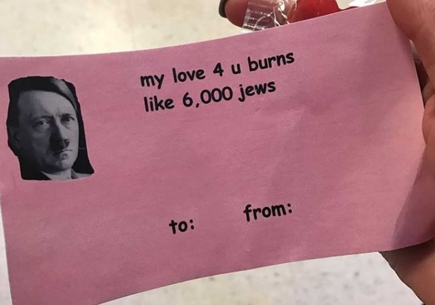 A Michigan University Club Just Handed Out 'Hitler Valentine' Cards