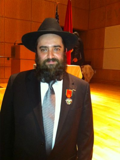 Great Honor: Rabbi Raphael Benchimol of the Manhattan Sephardic Congregation was knighted this week by Serge Berdugo, Ambassador & President of The Jewish Community of Morocco. The ceremony took place under the auspices of the American Sephardi Federation located at The Center for Jewish History in New York City.