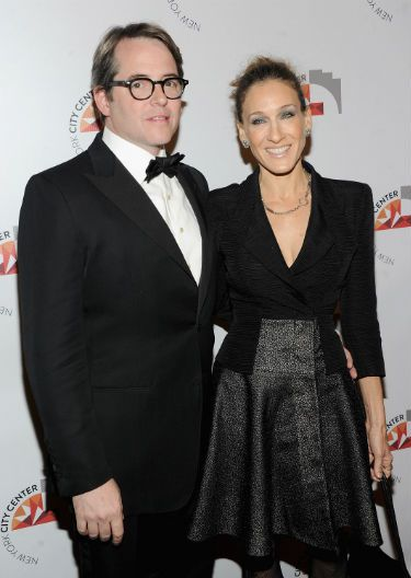 Black Tie: Actors Matthew Broderick and Sarah Jessica Parker get all gussied up for the reopening of the New York City Center.
