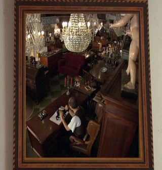 Acting in his own story: Richard Zimler has a small part as an antiques dealer in the film of his short story, ?The Slow Mirror.?