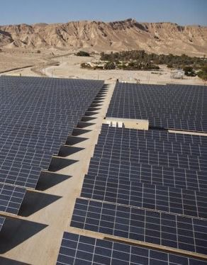 The Arava Power Company's 4.9-megawatt field sits outside Kibbutz Ketura in Israel.