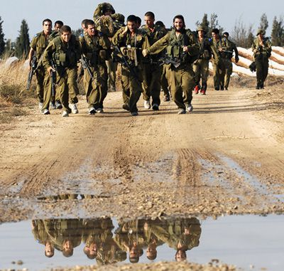 Joint Exercise: Israeli soldiers train near the coastal city of Ashdod in October, part of the largest missile defense dry run ever held. Some 1,400 American soldiers were also involved.