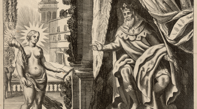 To Play The King: Bible translator John Wycliffe first inserted the name of Solomon (depicted here in an 18th century print) into the title of ?The Song of Songs.?