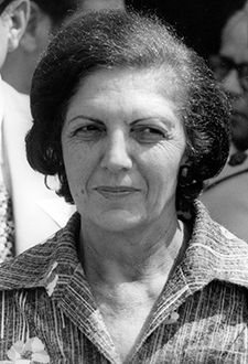 A Private Life: Sonia Peres, in 1977 photo, the year of her husband?s first stint as prime minister, shied away from public life.