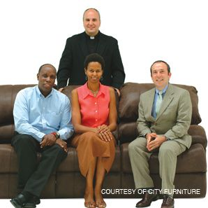 GIVING COMFORT: A Florida furniture chain has signed on a team of spiritual advisers.